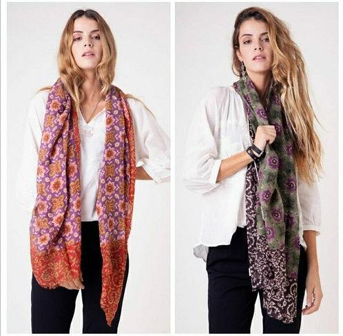 L-0044 Bufandas de lana 100 % De India