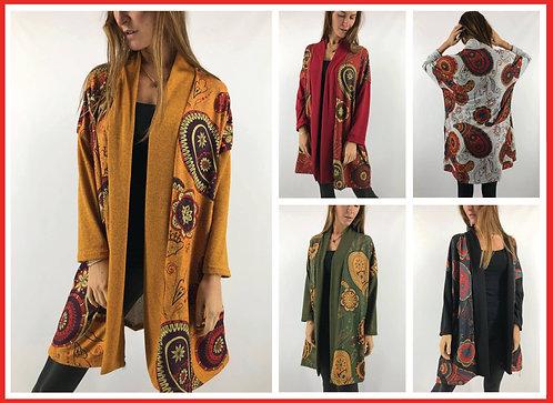BM14  Kimonos de lanilla amplios. Con bolsillos.