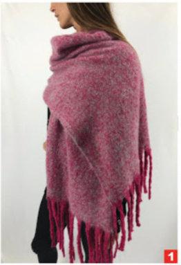 C8 Bufandones de lana, alta densidad. Con flecos
