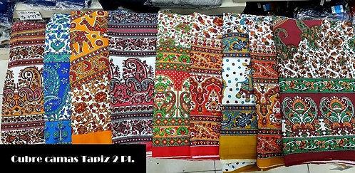 A-240 Cubrecamas, tapiz, manta o lona hindú. Diseño elefantes