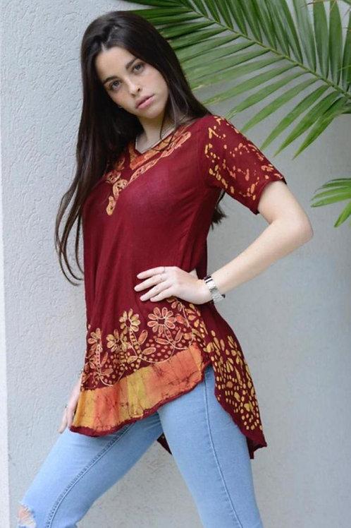 I-333320 Blusa de bambula batik, amplia