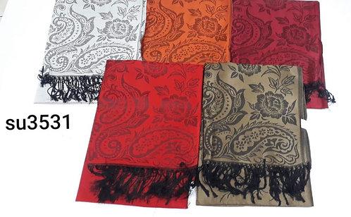 3531 Pashminas de jackard, diseños variados