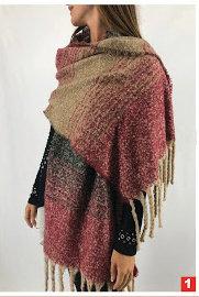 C14 Bufandones de lana diseño a rayas