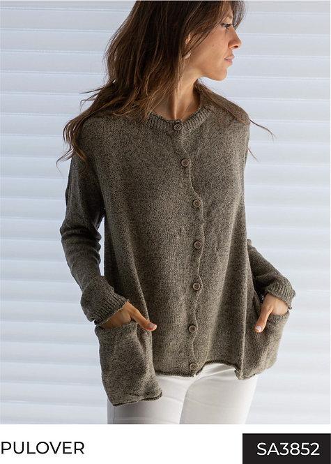 SA3852 Cárdigan de lana con botones