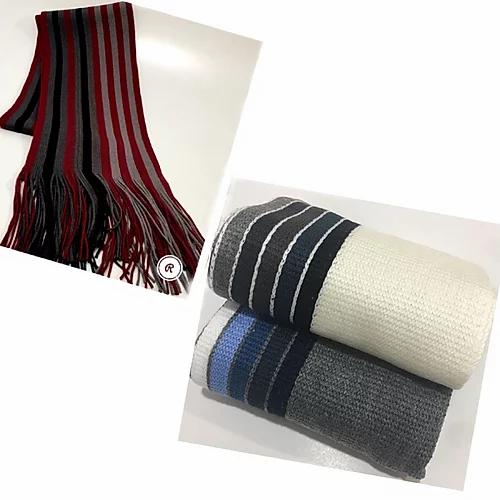 Bufandas de lana con rayas.webp