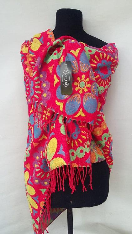 F-903 Pañoletas de lana de alta densidad, reversibles.