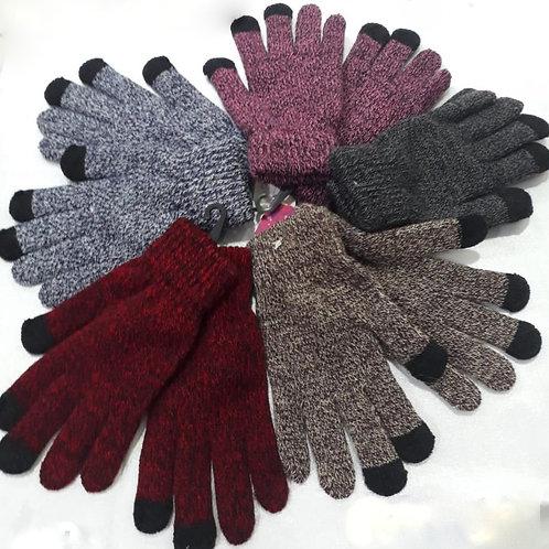 G-604 Guantes de lana combinados, táctil.
