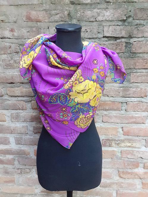 PÑ 3591 Pañuelo estampado, diseño y color único. De India