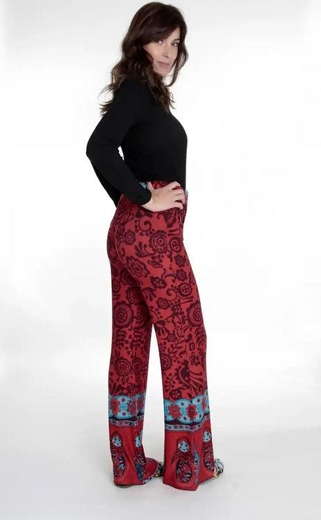 I-3065 Pantalón de lanilla con estampado de mamushkas