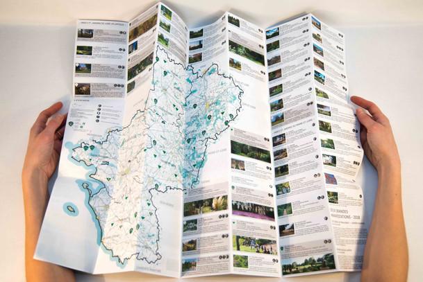carte des jardins des Pays de la Loire