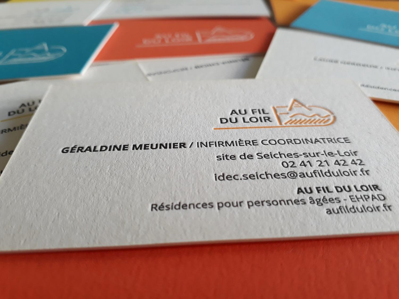 carte de visite letter press