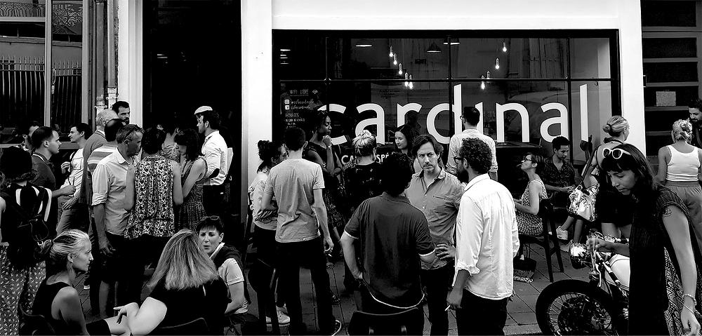 inauguration du café cardinal rue des Arènes à Angers - crédits hortense rossignol graphisme