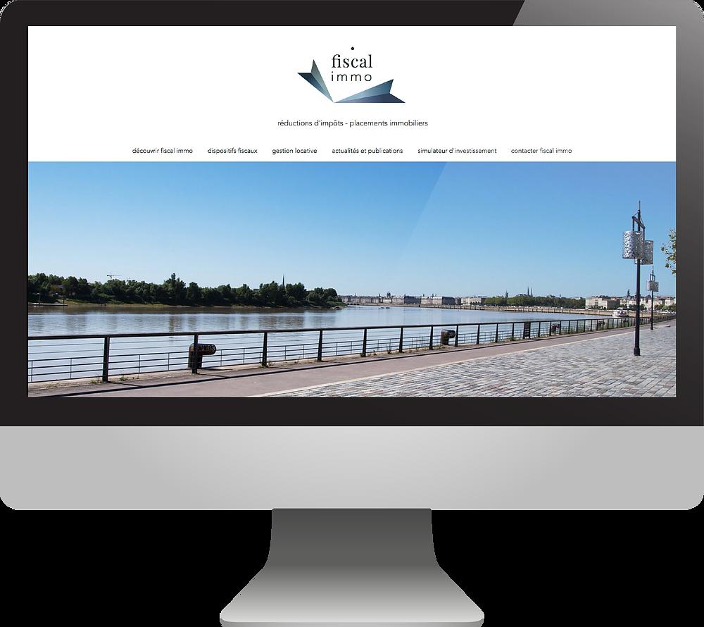 création de site internet | fiscal immo par hortense rossignol graphisme | communication et création graphique | Angers