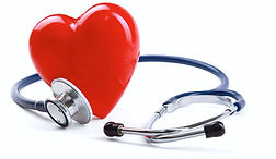 Red heart and a stethoscope on desk.jpg