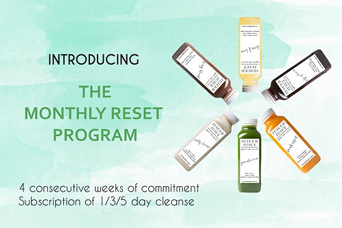 Monthly Reset Program -  5 Day Cleanse