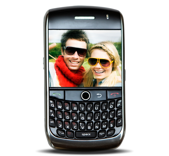 Smart Phone with Smiling Couple