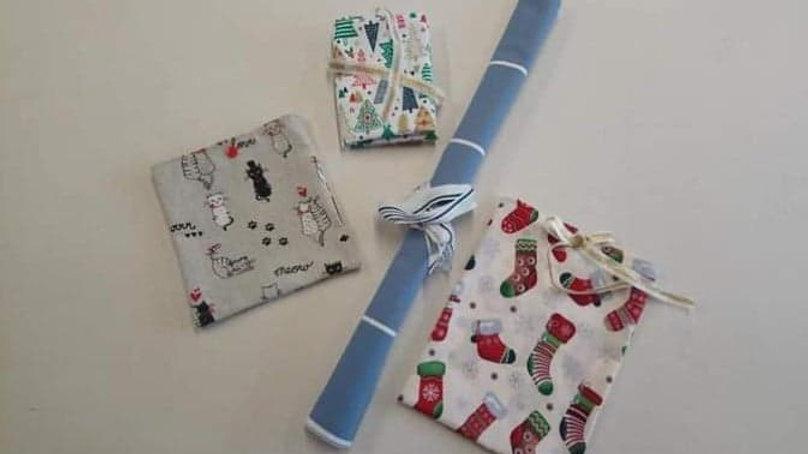 Coffret cadeau furoshiki (emballage cadeau zéro déchet)