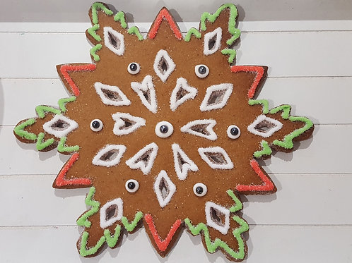 Giant Snowflake Gingerbread