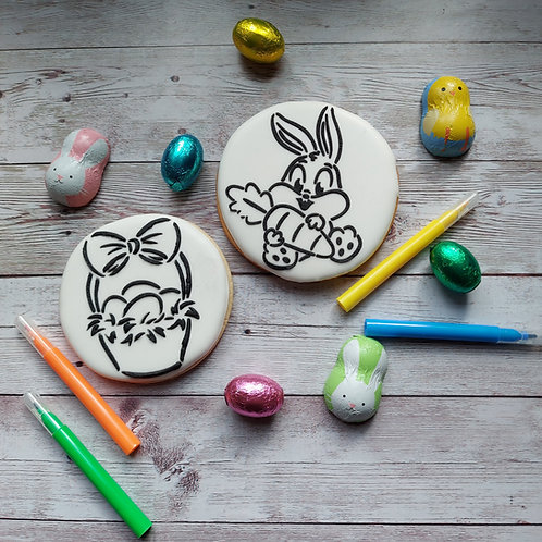 Paint your own Easter cookie