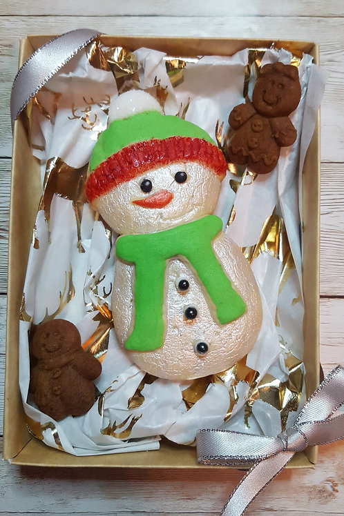 Snowman Large cookie