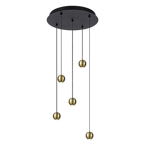 Hanglamp Balls 5   goud   rond