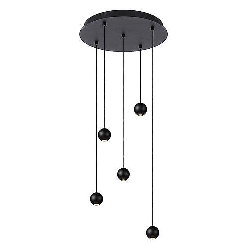 Hanglamp Balls 5 | zwart | rond