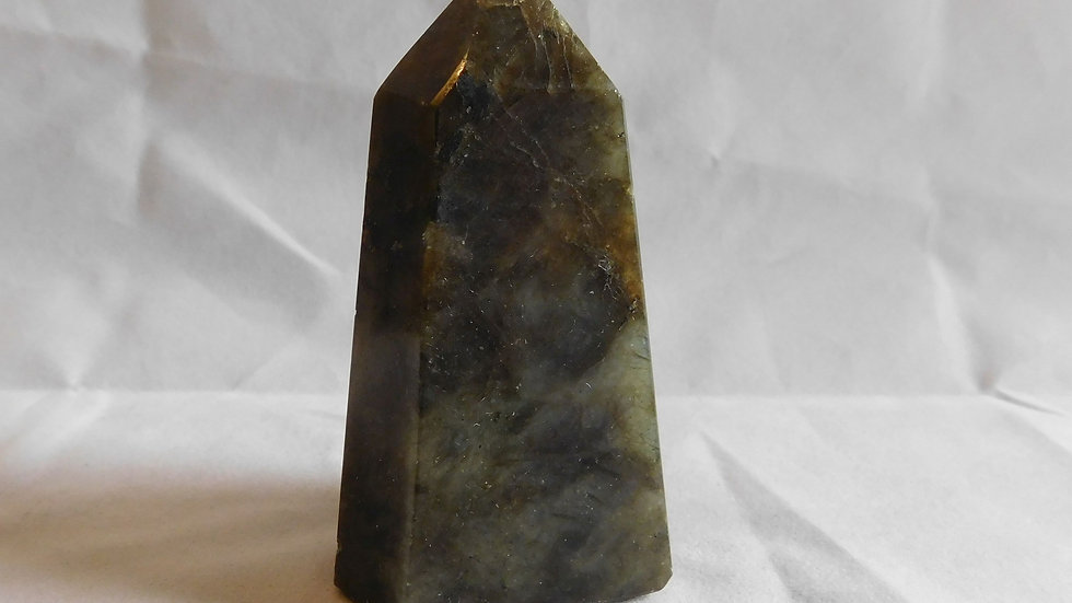81mm approx. 186g Cut and Polished Labradorite 'Fire' Crystal Single Point Wand