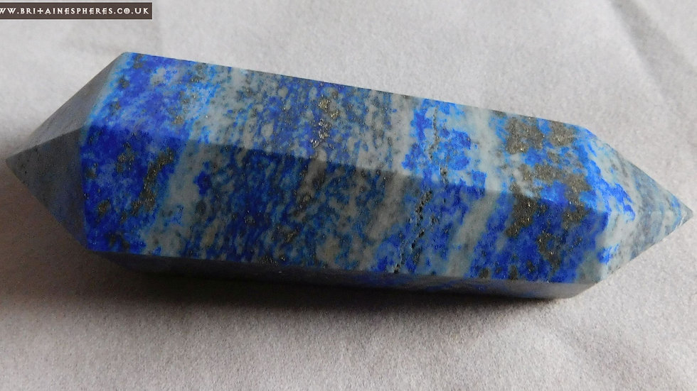 77mm (approx. 62g) Cut and Polished Lapis Lazuli Double Terminated Crystal Wand