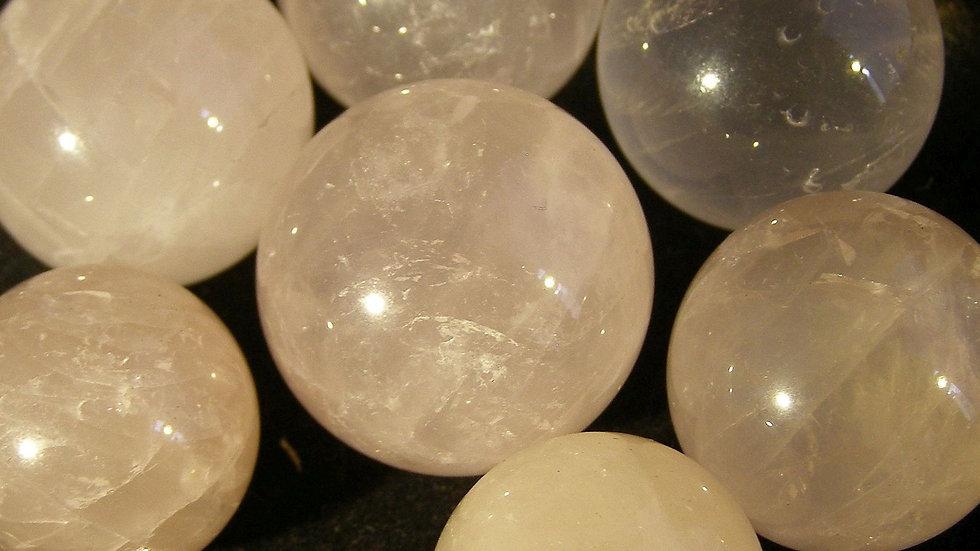 100g (18mm - 25mm) Rose Quartz Crystal Balls Spheres Orbs (approx. 6-8 Spheres)
