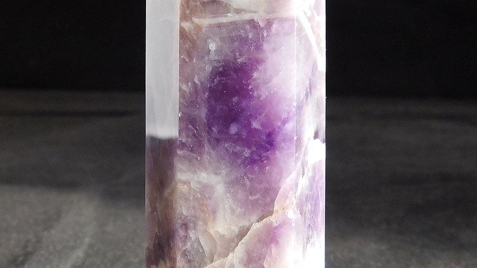 92mm 101g Cut & Polished Dream Amethyst Quartz Crystal Single Point Wand
