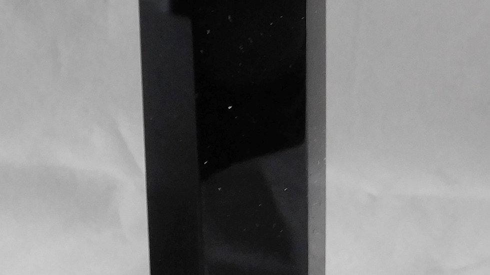 127mm (approx. 97g) Black Obsidian Single Point Crystal Wand Obelisk