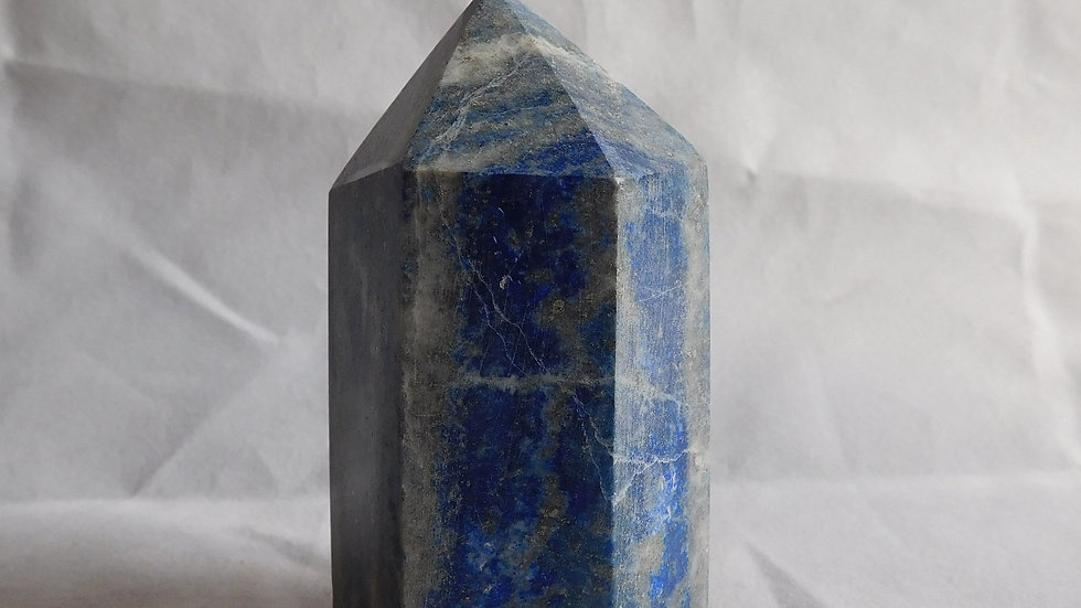 75mm (approx. 208g) Cut and Polished Lapis Lazuli Crystal Single Point Wand