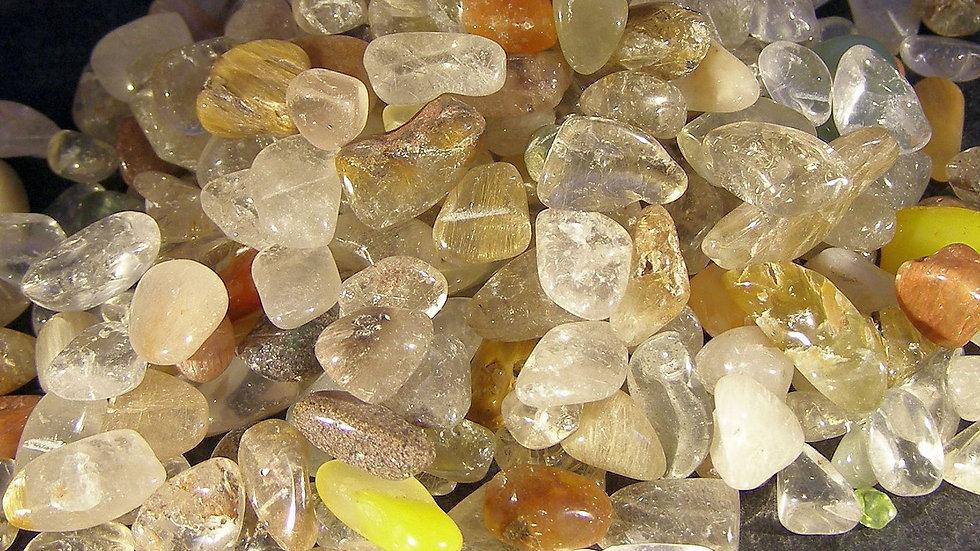 200g Tumbled and Polished 5-Colour Quartz Tumblestones Tumble Stones Crystals