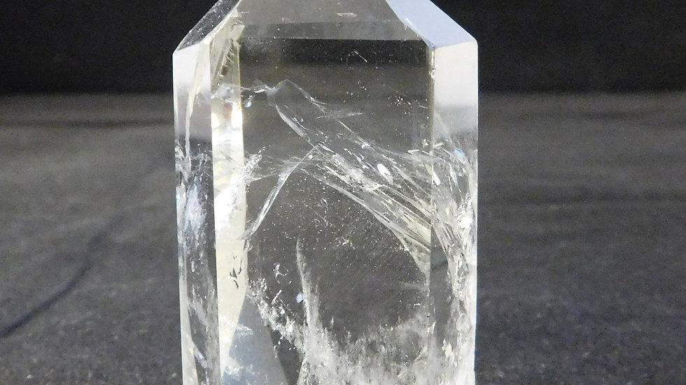 70mm (117g) Cut & Polished Clear Tibetan Quartz Crystal Single Point Wand
