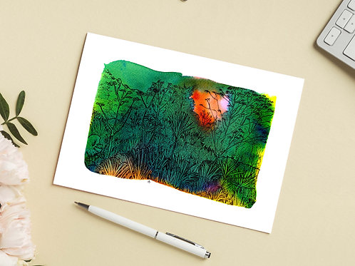 Carte 'Fôret amazonienne' / Carte postale A6 10x15