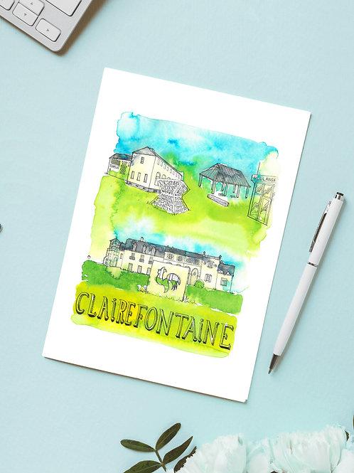 Carte 'Clairefontaine, France' / Carte postale A6 10x15