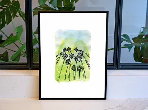 Illustration 'Palmiers de Californie' / Affiche 30x40