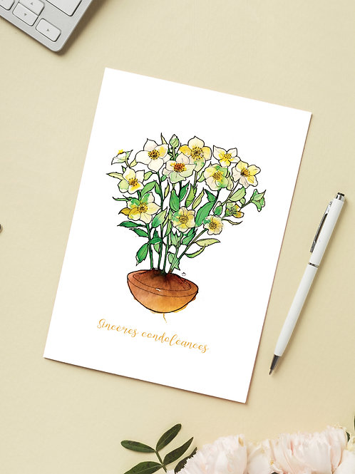 Carte 'Condoléances' / Carte postale A6 10x15