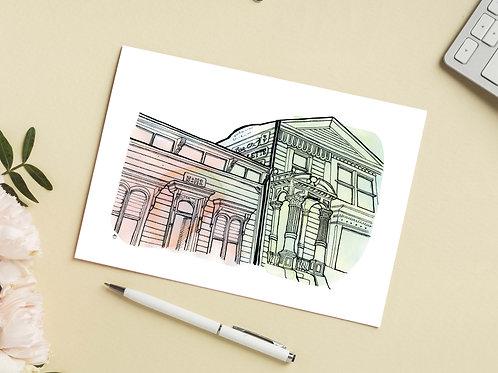 Carte 'Maisons victoriennes, San Francisco' / Carte postale A6 10x15