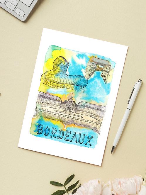 Carte 'Bordeaux, France' / Carte postale A6 10x15