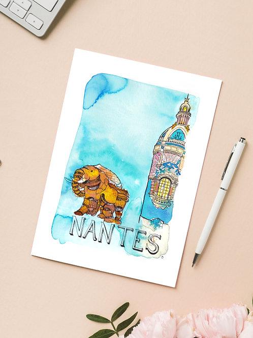 Carte 'Nantes, France' / Carte postale A6 10x15
