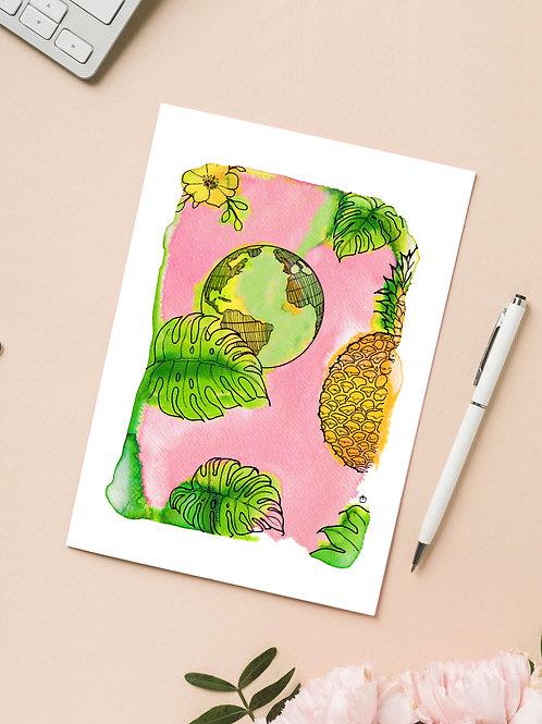 Carte 'Voyage tropical' / Carte postale A6 10x15