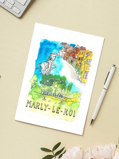 Carte 'Marly-le-Roi, Yvelines, France' / Carte postale A6 10x15