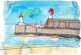 Entrée du port des Sables d'Olonne