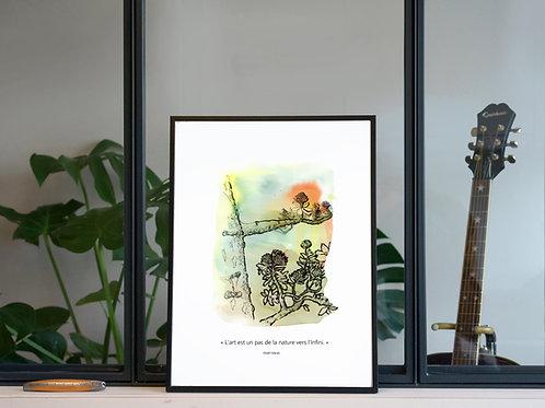 Illustration 'Art Nature Infini' / Affiche 30x40