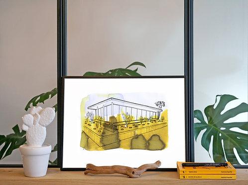 Illustration 'Museum d'art, Palm Springs' / Affiche 30x40