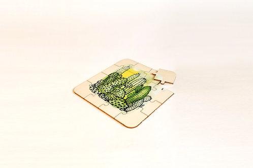 Puzzle en bois 'Cactus'