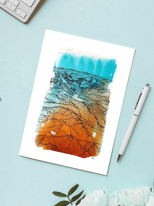 Carte 'Vue du ciel' / Carte postale A6 10x15