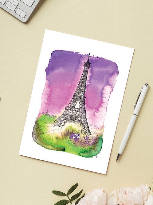 Carte 'Tour Eiffel, Paris' / Carte postale A6 10x15