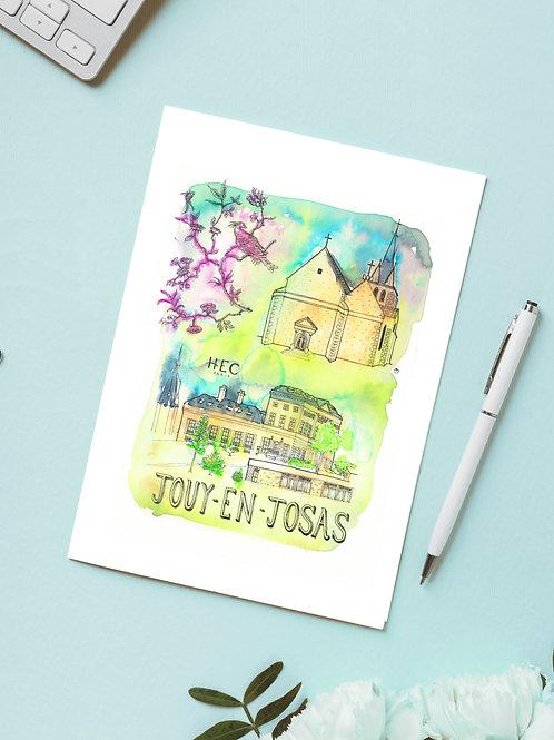 Carte 'Jouy-en-Josas, Yvelines, France' / Carte postale A6 10x15